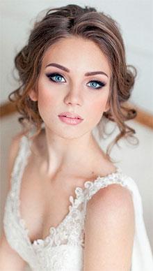 Модный свадебный макияж невесты